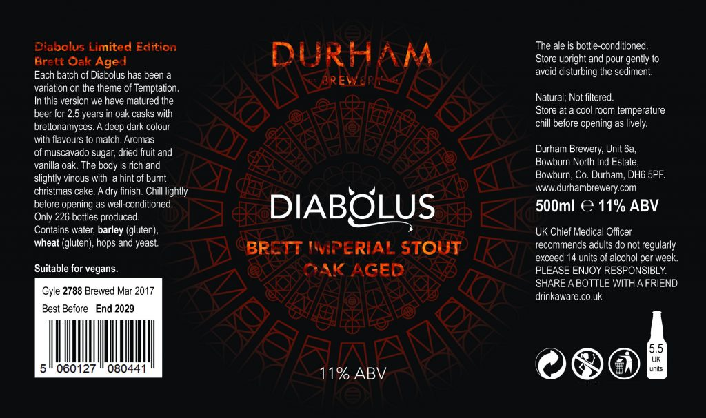 Diabolus Brett Oak Aged Imperial Stout - Durham Brewery