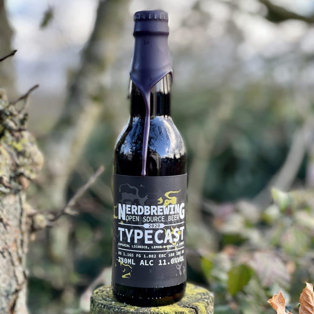 """Typecast' Imperial Licorice Lemon & Vanilla Stout - Nerd"