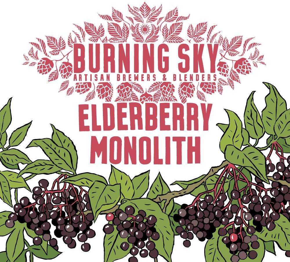 Elderberry Monolith - Burning Sky